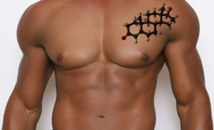 Kropp med testosteron